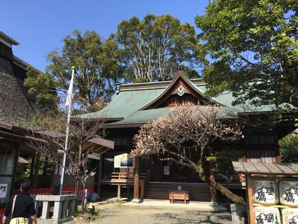熊本大神宮の正面からの画像