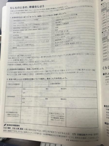 ほぼ日手帳のもしものときの準備をしようのページの画像