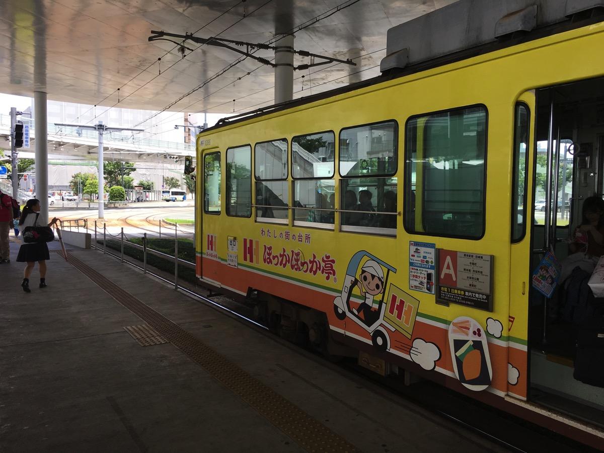 熊本の市電の外観の画像