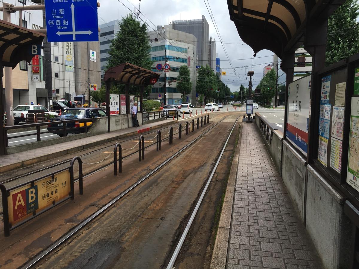熊本の市電の路線の画像