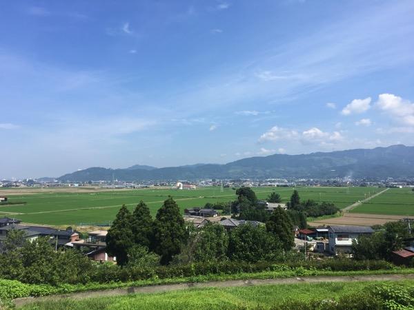 道の駅うきはから見た筑後平野の画像