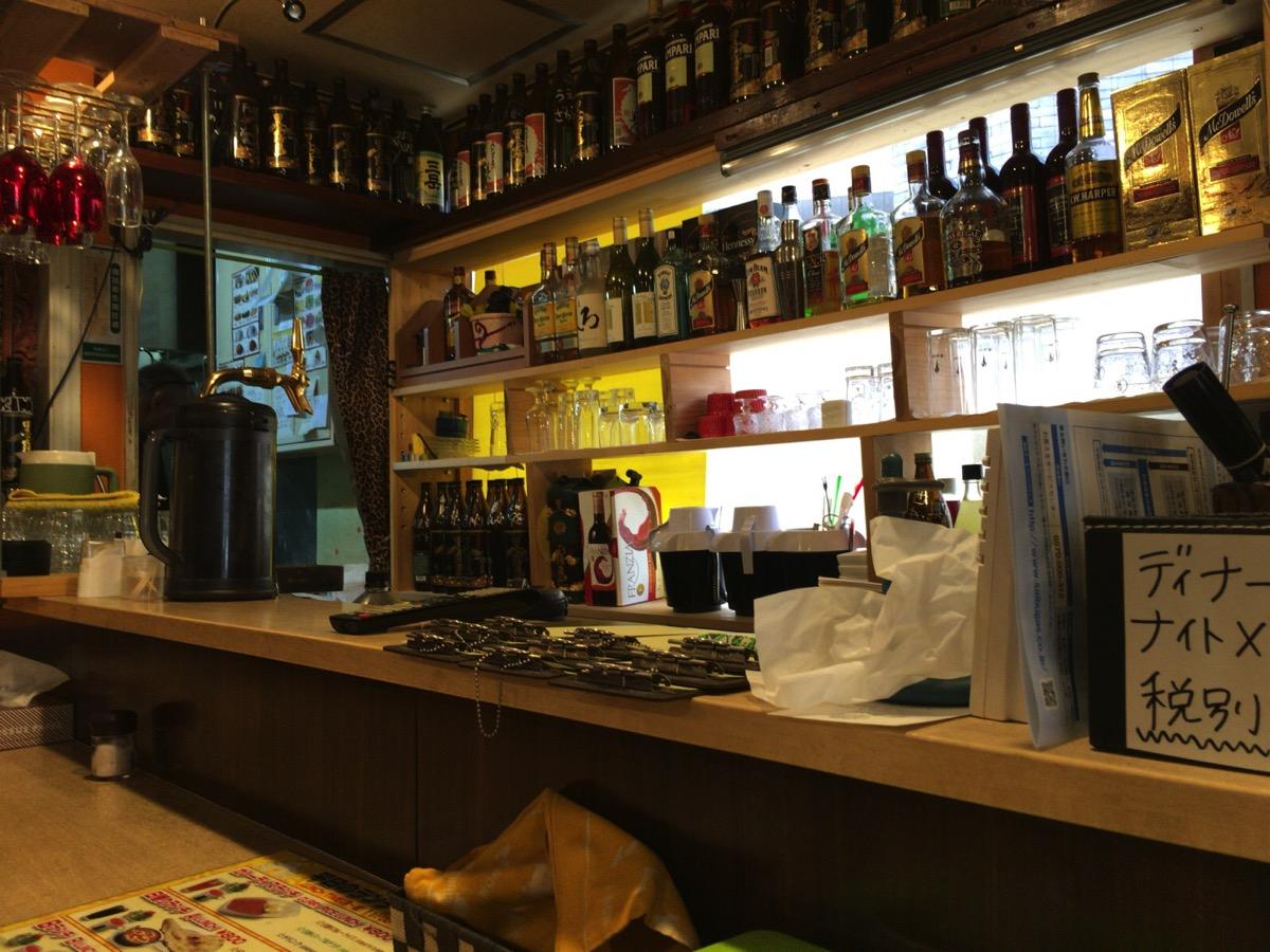 インドレストラン アラジンのカウンター
