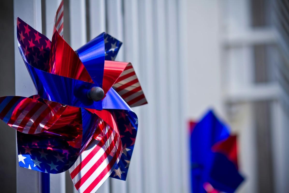アメリカの国旗の風車