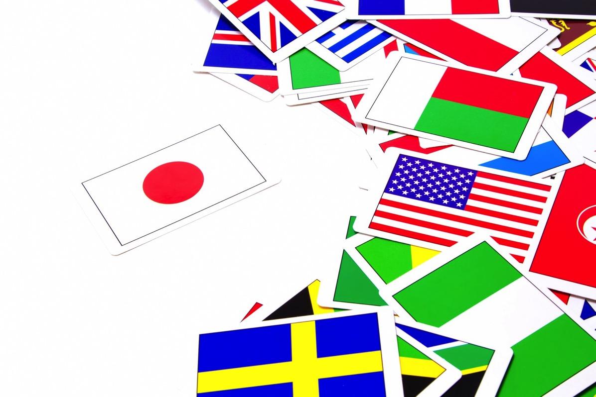 日本だけ孤立した国旗のカード