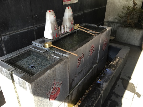 熊本稲荷神社の手水舍の画像