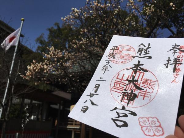 熊本大神宮の御朱印の画像