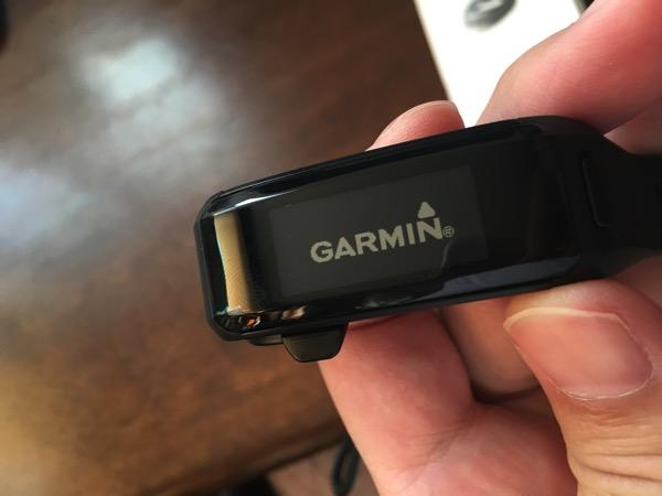 Garmin(ガーミン)「vivosmart HR J」の最初表示されたスクリーンの画像