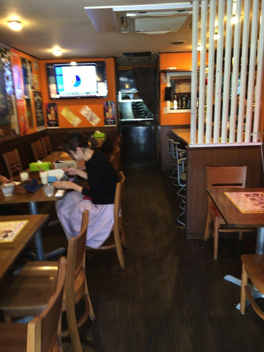 インドレストラン アラジンの内観その1