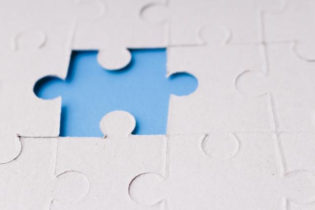作りかけのパズル