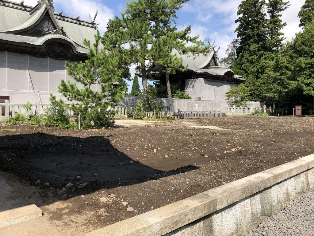 2018年9月25日の阿蘇神社の拝殿の画像